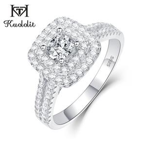 Kuololit nozze anelli per le donne ragazze solido argento 925 5A pietre preziose a mano fidanzamento sposa Banda Anelli Fine Jewelry