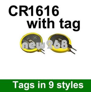 Freeshipping venden al por mayor 500pcs / lot la batería CR1616 del botón de la célula / del botón del litio 3V con la etiqueta