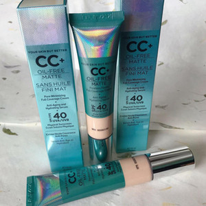 Dropshipping libre cosmétiques CC + crème sans huile Matte Poreless Fini la pleine couverture Crème Hydratante Sérum Anti-cernes Makuep par Epacket.