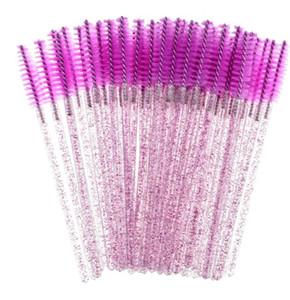 New Makeup Brush Shiny Eyelash Brush Disposable Eyebrow Brushes Mascara Wands Applicator Lash Curling Comb Grafting Beauty Makeup Tool