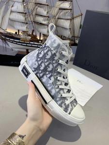 2020 New Men Günlük Ayakkabılar Lüks Sneakers tuval AyakkabıHristiyanDior Üst Kalite Gerçek Deri İşlemeli EUR 35-45