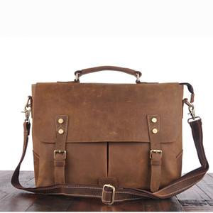 Handmade Bag Cross shoulder bag mad horse leather handbag for men leather handbag