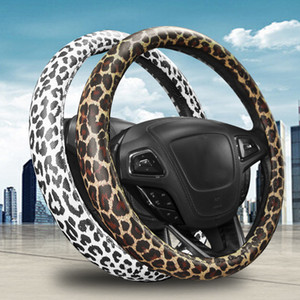 New Leopard Car Steering Wheel Cover Fashion Handlebar Set Accessories Steering Wheel Diameter 38cm