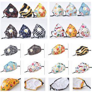 Children Mouth Mask Pad Kids Breath Valve Anti Haze Breathable Mask Anti Dust Face Masks Adult Protective Designer Mask HH9-3108