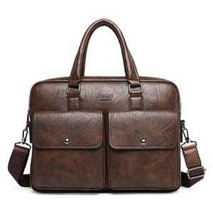 Ретро стиль Кожа PU Мужская портфель бизнес сумка высокого качества Мужской ноутбука Сумка кошелек Стильный мужской портфель на ремне