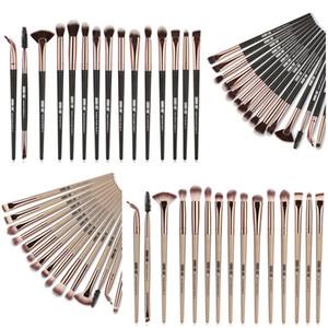 15 UNIDS Pinceles de Maquillaje Cosmético Eyeliner Eyebrow Eyeshadow Foundation Make Up Brush profesión Cepillos de Moda 2 colores