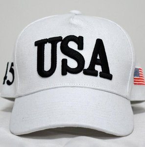 USA Flag Cap Cotton Baseball Hat Caps 45 President Donald Trump Support Baseball Cap Snapback Unisex Adjustable Novelty Hats GGA3363-5
