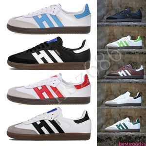 Top quality designer samba shoes trainers leather men women rose mens sneakers gazelle chaussures casual white platform flat size 36-451b90#