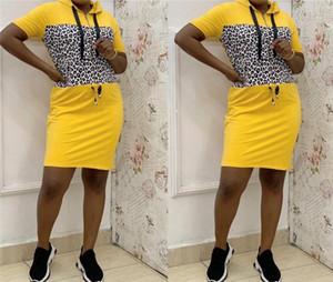 Robes Concepteurs Leopard à manches courtes ras du cou pour femmes Robes de luxe Vêtements pour femmes d'été Femmes Casual lambrissé