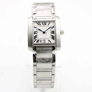 Fashion High Quailty Quarz 26mm Behälter W5200028 Datum Rom Weiß Dial-Silber-Edelstahl-Frauen-Uhren der legeren Kleidung Paar