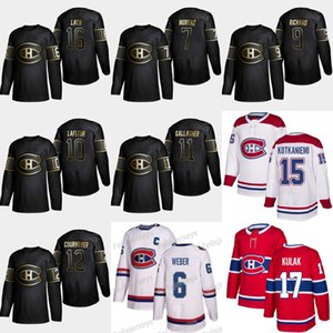 2019 Ouro Negro Montreal Canadiens 11 Brendan Gallagher 16 Elmer Lach 12 Yvan Cournoyer Howie Morenz Guy Lafleur Mauricio Richard Jerseys