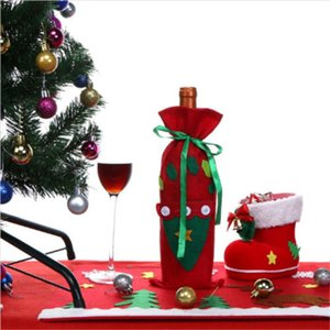 2017 Nuovo Buon Natale Babbo vino Borse Bottiglia di copertura Festival Xmas Dinner Party Table Decor Home Decoration
