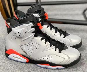 Yeni 6 S JSP 3 M Yansıtıcı Kızılötesi Hatalar Bunny Basketbol Ayakkabıları Erkekler 6 Gümüş Siyah Kızılötesi Spor Sneakers Kutusu Ile Yüksek Kalite