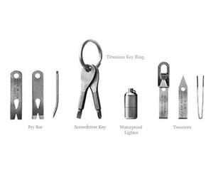 야외 도구 키 체인 스크루 드라이버 다목적 야외 도구 키 체인 스크루 드라이버 미니 드라이버 세트 열쇠 고리와 슬롯 XHCFYZ10