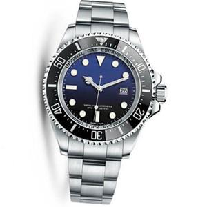 Горячая Новый Мужских часы Deep Ceramic ободок SEA-Dweller Sapphire Cystal из нержавеющей стали с Glide замок Застежку автоматическая механические мужские часов