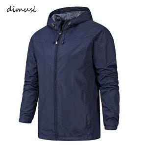 DIMUSI printemps vestes pour hommes Homme Mode Outwear coupe-vent hoodies mince manteaux hommes Sportwear Survêtement Hommes Vestes Bomber 3XLMX191012