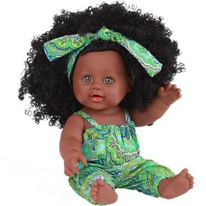 Bambole alla moda nere della ragazza Bambole del gioco dell'afroamericano realistiche 12 pollici del regalo di Natale del bambino giocano buon per i giocattoli dei bambini