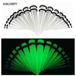 어둠 속에서 자라십시오 Acrylic Ear Taper 및 플러그 게이지 스트레칭 키트 육체 터널 팽창 바디 피어 싱 쥬얼리 100pcs