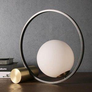 Творческий современный минималистский спальня кабинет офис прикроватный столик свет гостиная Nordic Post-Modern минималистский настольная лампа Ac100-240v
