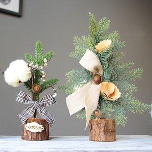 Новинка мини Рождественская елка украшения Украшения дерево искусственная ваниль Рождественская елка горшки кафе Декор комнаты 10xya E1