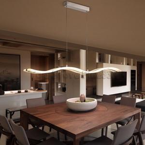 Acabado de café Lámpara LED moderna para sala de estar Comedor de cocina Cuerpo de aluminio acrílico Lámparas de araña
