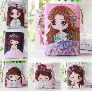 Children's cartoon cute mini wallet little girl princess messenger bag