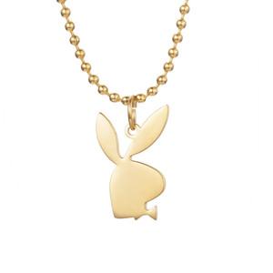 Playboy Bunny Ожерелье Ручной Работы Взрослых Ювелирных Изделий Кролик Символ Подвеска Шарм Подарок Для Мужчин Женщин Из Нержавеющей Стали Любовь Ожерелье