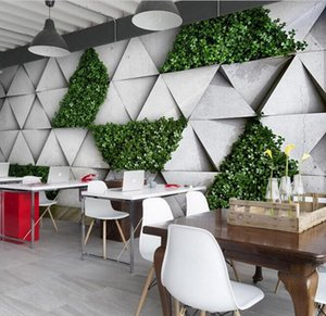 Personality simulation vine plant 3D Mural Custom Nordic style literary pastoral forest background wall restaurant milk tea shop wallpapers