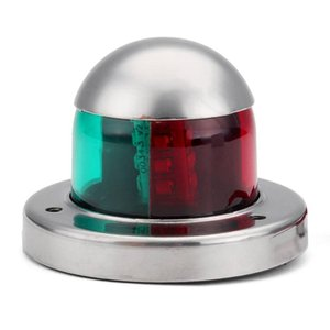 LED Navigation Lights 12V 304 Stainless Steel Green Red Sailing Signal Lamp For Boat Yacht