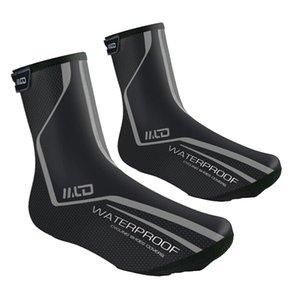Accesorios a prueba de viento impermeables de equitación caliente duradero Racing ciclo al aire libre de la PU de zapatos de piel cubierta de protección de la bici no Slip