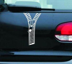 Creative Zipper Car Stickers Rear Decals Decoration Accessories Fastener Auto Moto Riflettente Del Vinile Sticker Car Styling