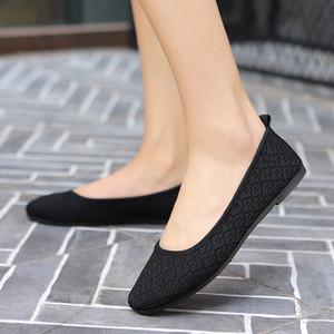Confortable Mocassins Femme Respirant Doux Sport Chaussures Femme Léger Tissu Antidérapant Appartements Mère Chaussures De Marche Tennis Feminino