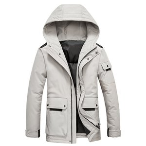 mens designer Tooling coat hooded down cotton-padded clothes Stylish couple thickening warm handsome quilted jacket
