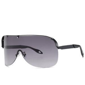 2020 Новый Стиль Большой кадр Крупногабаритные Солнцезащитные очки Женщины Большие Flat Top Солнцезащитные очки Trendy площади Gradient Оттенки