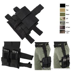 Airsoft Combat Gear Asalto camuflaje paquete de cartuchos de munición de FAST Clip Holder portador táctico Mag Revista de la bolsa con la pierna Correa NO11-454