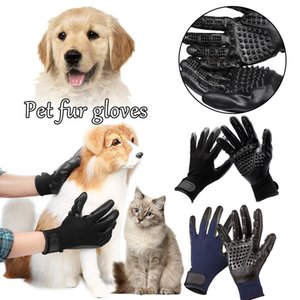 1Pair Animals Grooming Glove for Cats Soft Rubber Pet Hair Remover Dog Horse Cat Shedding Bathing Massage Brush Clean Comb