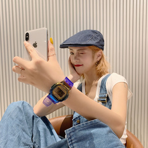 montre couleur gradient GA100 élève version coréenne du simple couple ambiance décontractée montre électronique lumineux sport étanche