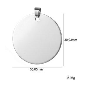 ZST0040 Hot venda 2020 mais recente projeto de pingente personalizado diy rodada padrão de aço inoxidável disco brilhante logotipo charme para o presente