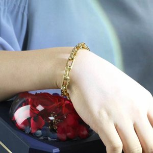 Men Jewelry Luxury Elegant Male 585 Rose Gold Color Jewelry Hand Catenary Link Metal Bracelet Bangle Charm Wide Men Bracelets