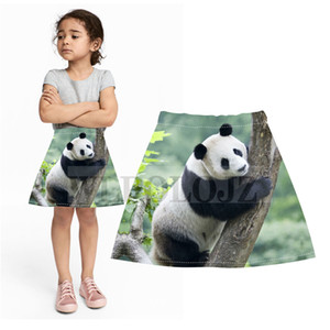animal style spring summer girls children kids skirts children skirts children's clothing 3D panda printing interesting skirts