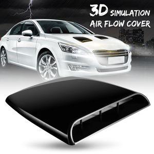 Авто 3D моделирование потока воздуха Декоративные Впускной Hood совок Bonnet Vent крышка черный ABS Легкая установка Только для декоративных