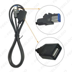 Car atacado Áudio Feminino USB AUX-in cabo adaptador 4Pin Connector para Nissan Teana Qashqai CD # 5659