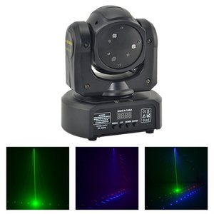 AUCD Mini 3 Heads RGB Laser Shark Moving Beam Light DMX Professional Bar Party Disco Show DJ Stage Lighting DJ-3H