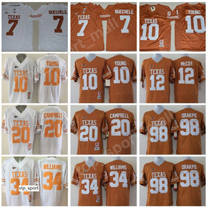 Texas Longhorns College Football 7 Shane Buechele Jersey Vince Earl Campbell Ricky Williams Colt McCoy 98 Brian Orakpo