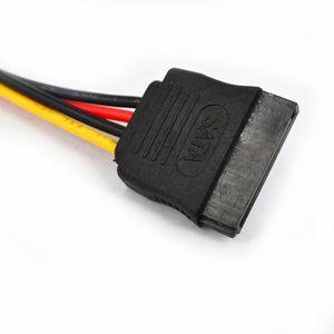 sata için 500pcs Yüksek Kalite SATA 15pin (M) (F) Uzatma kablosu sata güç kablosu adaptörü