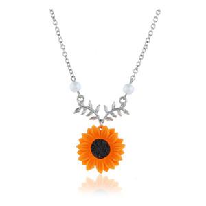 Özgünlük Süsler kolye İnci The Sun Flower Kolye Kadın Mizaç Ayçiçeği Pendeloque Kesim