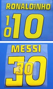 الرجعية الأصفر طباعة لكرة القدم القماء ronaldinho ميسي لاعب ختم ملصقات طباعة كرة القدم رسائل أعجب شارات بلاستيكية خمر