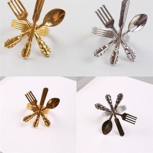 Runde Serviettenringe Messer Gabel Löffel Modellieren Servietten Ring Gold Splitter Farbe Geschirr Zubehör Neue Ankunft 5 5zw L1