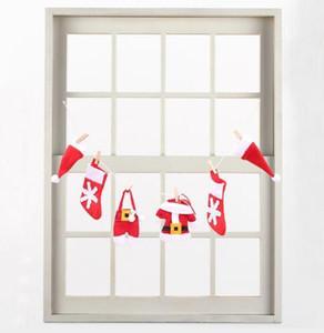 no tejido Banderas DIY Navidad sombrero del partido de Navidad ropa calcetín Banner Decoración Decoración Suministros de Decoración Y18102609