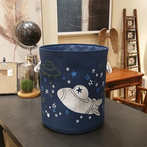 Stars Spaceship Kids Toys Organizer Baskets Foldable Laundry Basket Bag Home Storage Basket Laundry Bucket For Dirty Clothes Bin